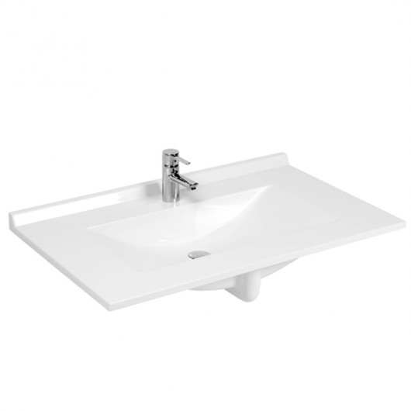 Plan Vasque 1 Robinet Resine 100 Cm : Plan simple vasque en résine de synthèse rÉsiplan cm