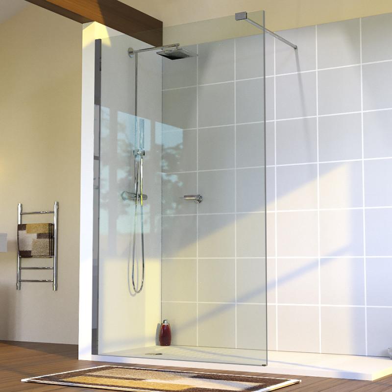 paroi de douche fixe sturdy verre 10 mm 100x200 cm cuisibane. Black Bedroom Furniture Sets. Home Design Ideas