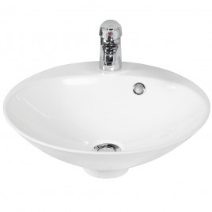 Vasque ronde à poser RESIBOL Ø 45 cm - blanc