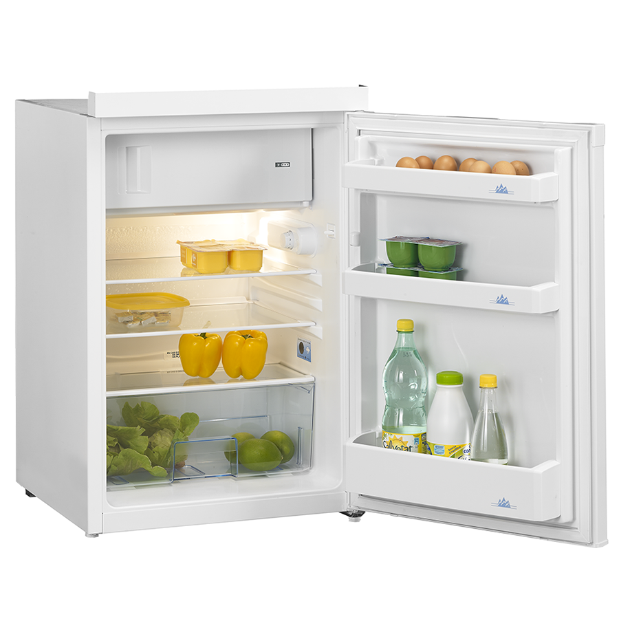 frigo top 55 cm beko avec cong lateur 120l a blanc cuisibane. Black Bedroom Furniture Sets. Home Design Ideas