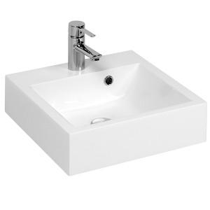 Vasque carrée à poser RESICUB 40 cm - blanc