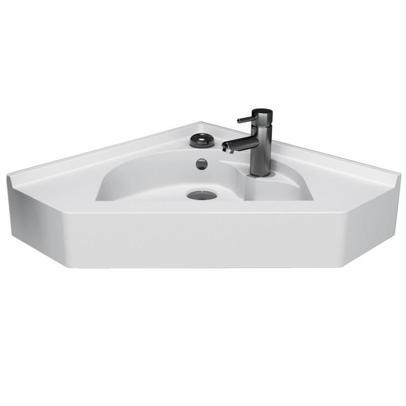 Vasque d'angle suspendu RESIANGLE- 50x50cm