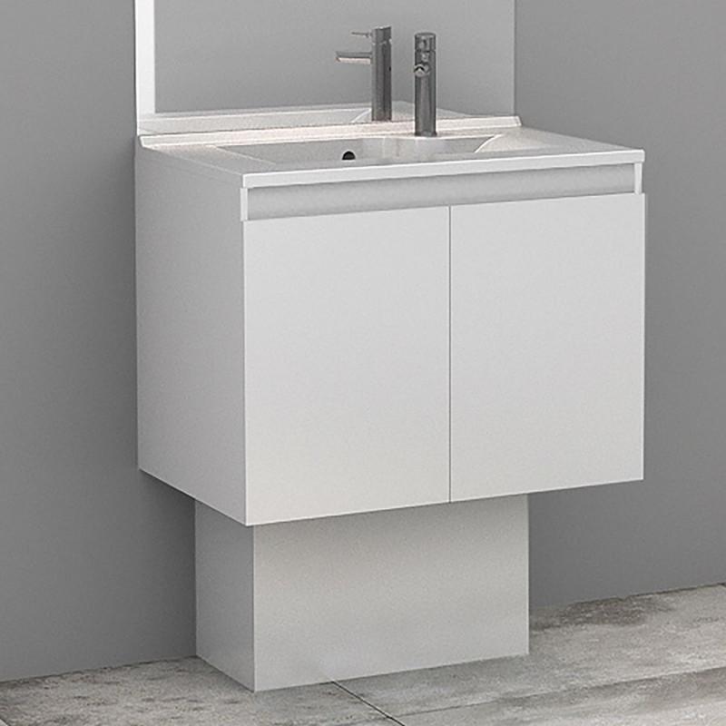 Cache-tuyaux coloris Blanc brillant - 50cm