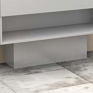 Cache-tuyaux coloris Blanc brillant - 80 cm
