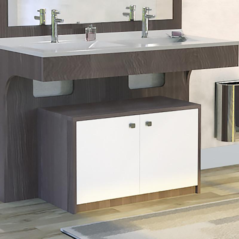 Meuble ALTEA 80 cm avec plan vasque et miroir - Décor vienna