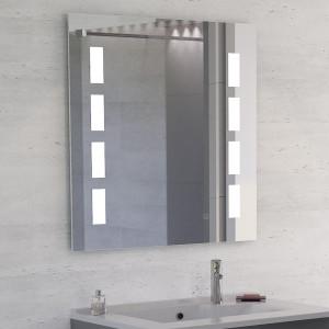 Miroir anti-buée MOSAIC 80x80 cm - éclairage intégré à LED et interrupteur sensitif
