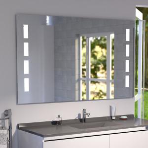 Miroir anti-buée MOSAIC 120x80 cm - éclairage intégré à LED et interrupteur sensitif