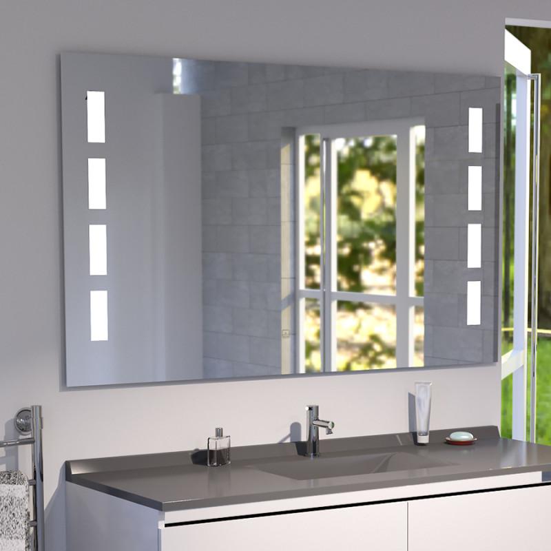 miroir anti bu e prestige 120x80 cm clairage int gr. Black Bedroom Furniture Sets. Home Design Ideas
