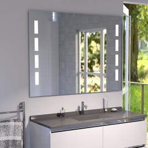 Miroir anti-buée MOSAIC 100x80 cm - éclairage intégré à LED et interrupteur sensitif