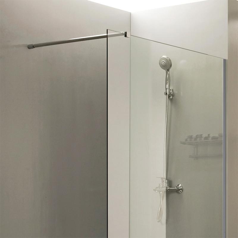 Paroi de douche fixe CALYPSO verre 8 mm - 110x200 cm