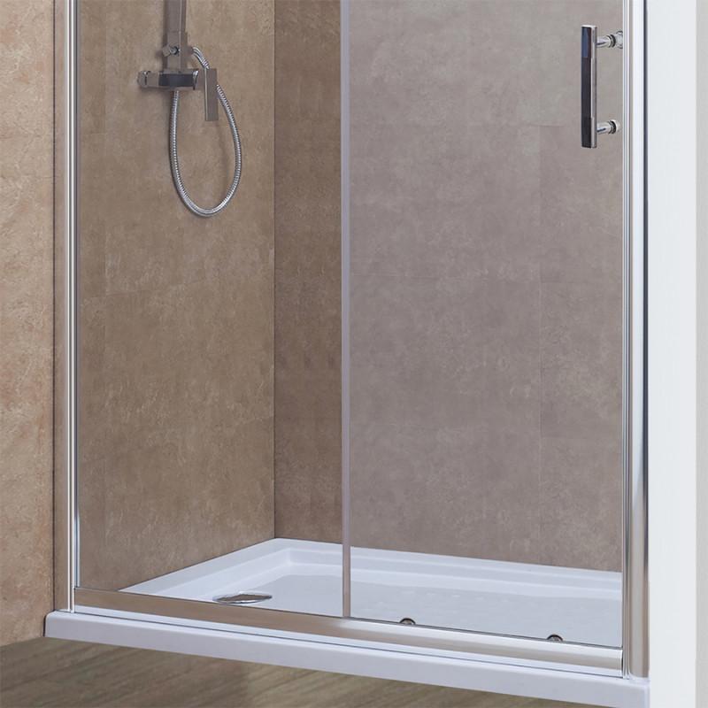 Porte de douche coulissante nerina 170 cm 6mm - Porte coulissante 120 cm de large ...