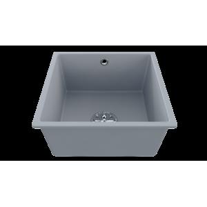 Cuve EVISTONE à encastrer ou à fixer par dessous 44x44 cm - Cromo