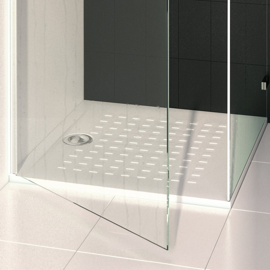 receveur de douche blanc ultraplat resisol 80x80cm cuisibane. Black Bedroom Furniture Sets. Home Design Ideas