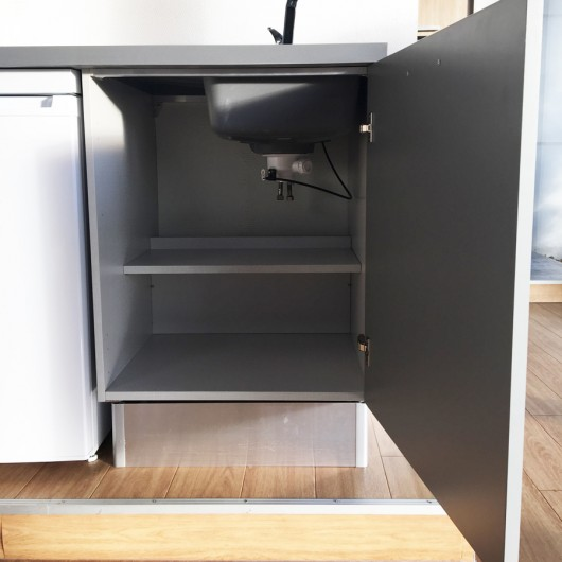 Kitchenette K23 - 180 cm avec emplacement frigo Top et hotte