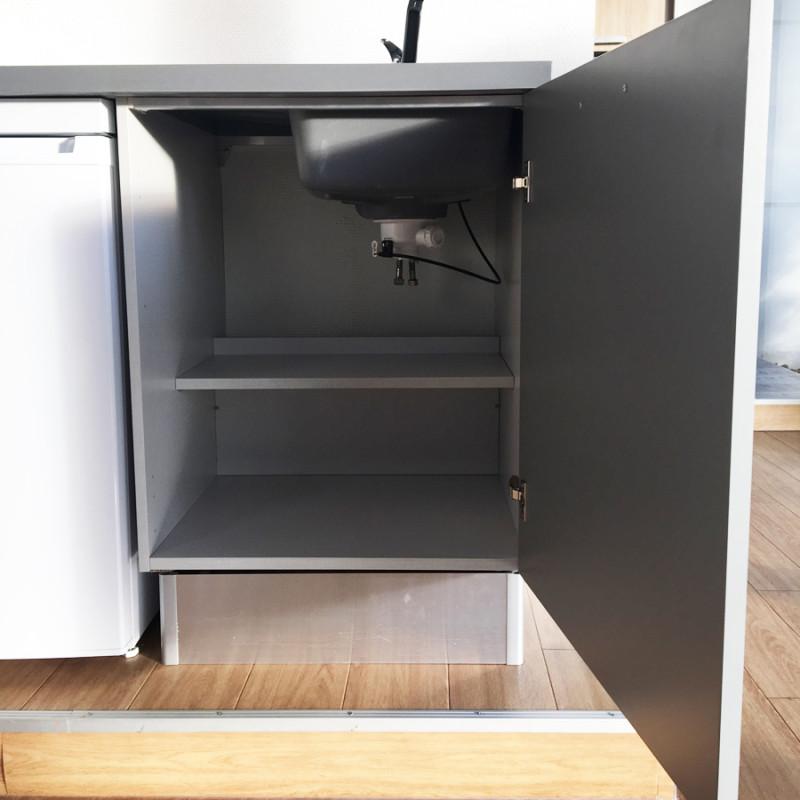 Kitchenette K33 - 180 cm avec emplacement frigo Top
