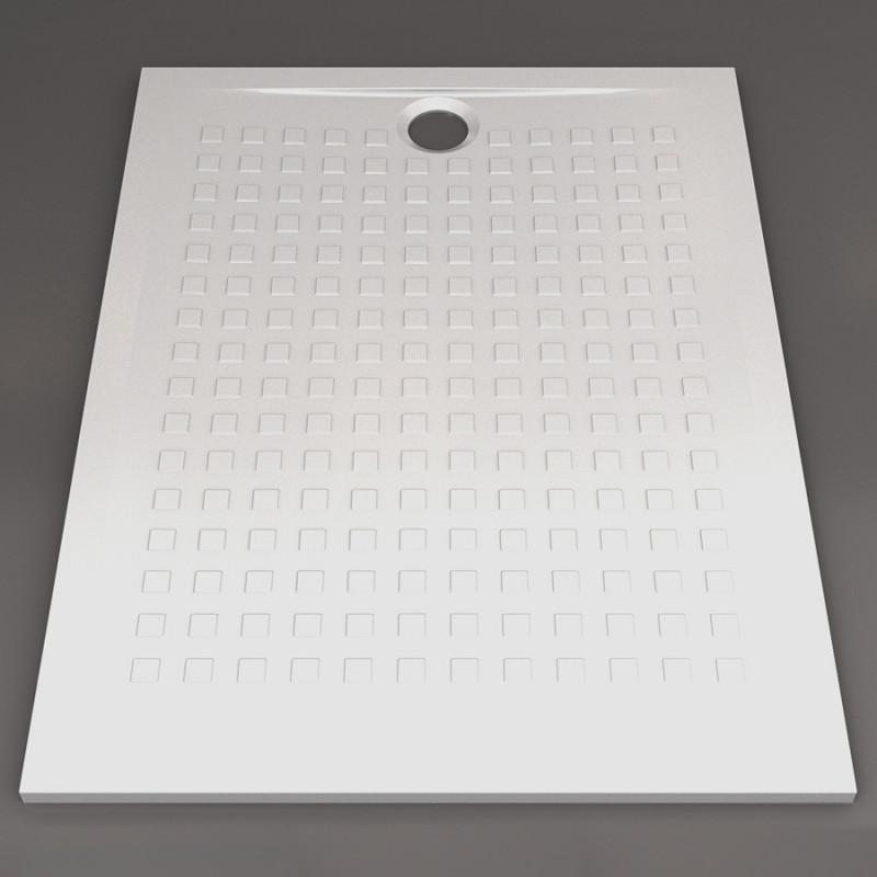 Receveur de douche blanc ultraplat 2.5cm  RESISOL - 120x90cm