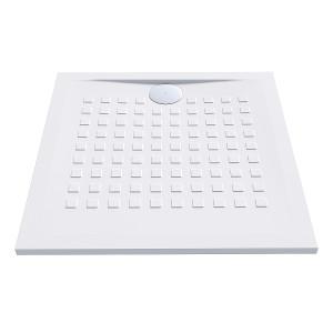 Receveur de douche blanc ultraplat 2.5cm  RESISOL - 80x80cm