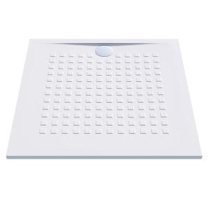 Receveur de douche blanc ultraplat 2.5cm  RESISOL - 100x100cm