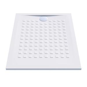 Receveur de douche blanc ultraplat 2.5cm  RESISOL - 100x80cm