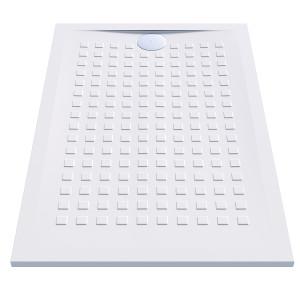 Receveur de douche blanc ultraplat 2.5cm  RESISOL - 120x80cm