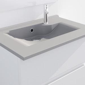 Plan simple vasque design gris RÉSILOGE - 80 cm