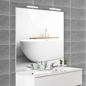Miroir MIRCOLINE avec appliques lumineuses -  140x105cm