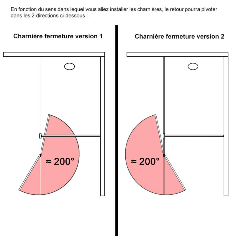 Paroi de douche fixe STURDY verre 10 mm avec retour - 120+40 x 200 cm