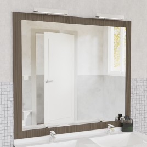 Miroir MIRALT décor vienna avec appliques LED - 140x109 cm
