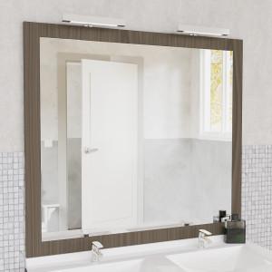 Miroir MIRALT décor vienna avec appliques LED - 120x109 cm