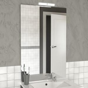 Miroir MIRCOLINE avec applique lumineuse LED -  90x105cm