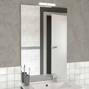 Miroir MIRCOLINE avec applique lumineuse -  80x105cm