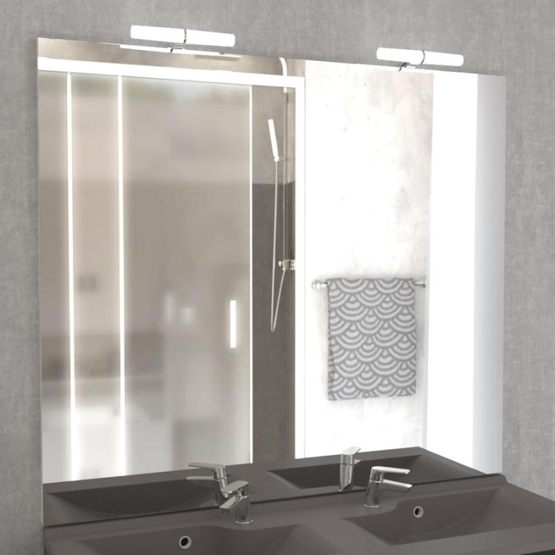 Miroir MIRCOLINE avec appliques lumineuses LED -  120x105cm
