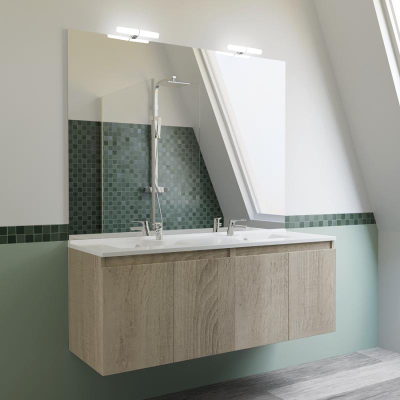 Meuble proline 140 cm avec plan vasque et miroir - Miroir 140 cm ...