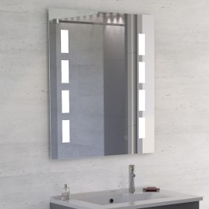 Miroir anti-buée MOSAIC 70x80 cm - éclairage intégré à LED et interrupteur sensitif