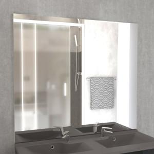 Miroir MIRCOLINE sans applique lumineuse -  140x105cm