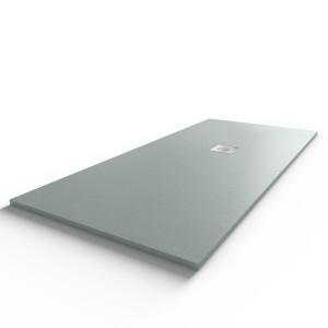 Receveur de douche gris béton extraplat 2.2cm SLIMMER - 180x80cm