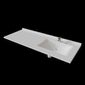 Plan vasque RESIPLAN - 151 cm avec vasque déportée à droite