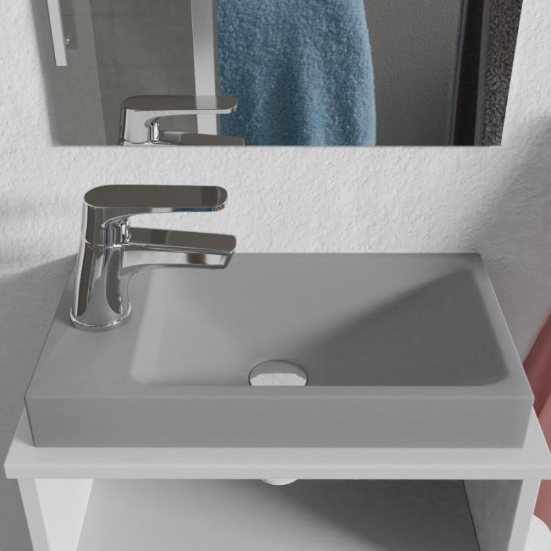Lave-mains à suspendre ou poser RESIMAIN - 40x22 cm - gris