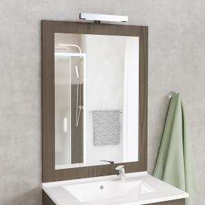 Miroir MIRALT décor coimbra avec applique LED - 80x109 cm