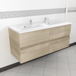 Caisson double vasque ROSALY 120 - Cambrian oak