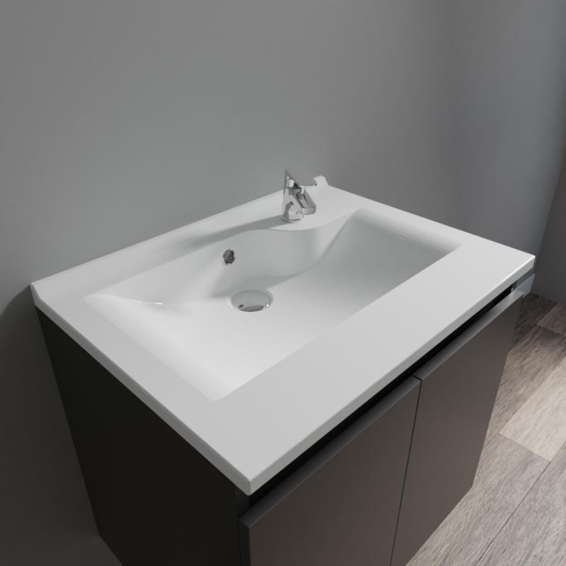 Plan simple vasque design RÉSILOGE - 60 cm