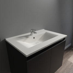 Plan vasque en céramique CERAPLAN - 70 cm