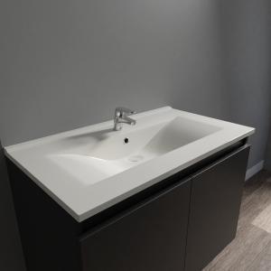 Plan vasque en céramique CÉRAPLAN - 80 cm