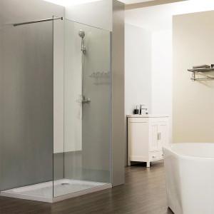Paroi de douche fixe CALYPSO verre 8 mm - 80 cm