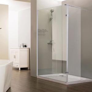 Paroi de douche fixe STURDY verre 10 mm avec retour - 100+40 x 200 cm