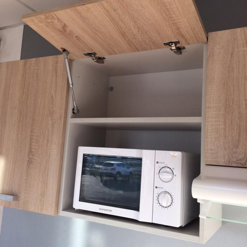 Kitchenette K07 - 120cm avec emplacement frigo top et micro-ondes