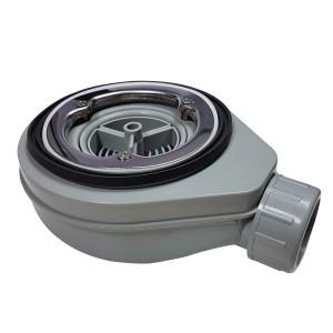 Bonde de douche extra-plate Ø 90mm pour receveur avec grille