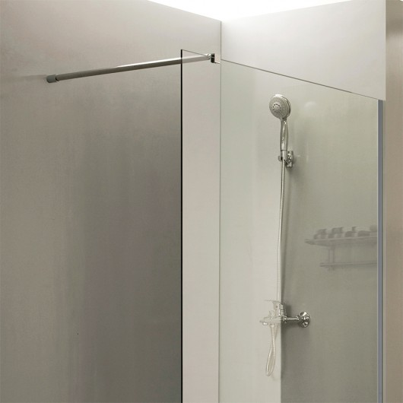Paroi de douche fixe CALYPSO verre 8 mm - 90 cm