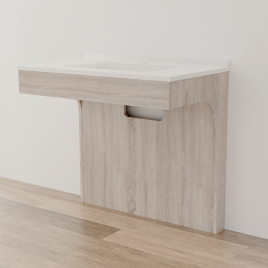 Caisson simple vasque PMR ALTEA 90 - Cambrian oak