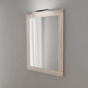 Miroir MIRALT décor cambrian oak avec applique LED - 70x109 cm
